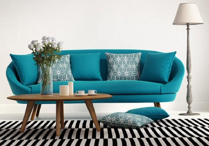 Sofa văng nỉ tone màu xanh tươi mới